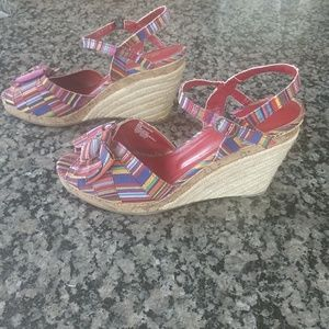 White Mountain Shoes - White Mountain multi color wedge held